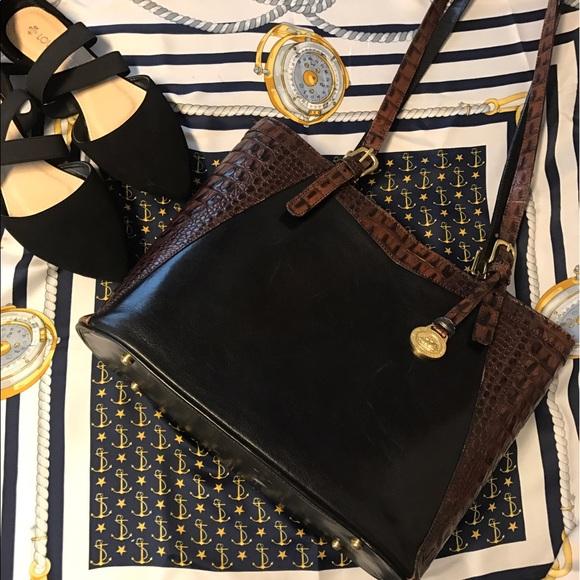 fb0ca4b16c0d Brahmin Handbags - 🆕Brahmin crocodile Tuscan bucket two tone purse