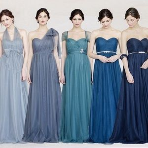 "Jenny Yoo Dresses & Skirts - Jenny Yoo | Navy ""Annabelle"" Bridesmaid Dress"