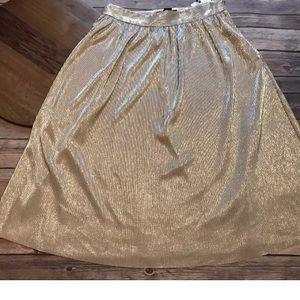 Who What Wear skirt shimmery Pleat skirt,