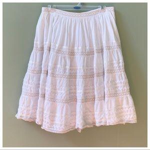 Anthro White Full Skirt