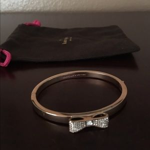 Kate Spade rose gold bow bangle bracelet