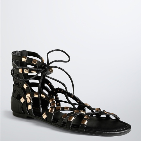 5ff337492840 Torrid Gold Lace Up Gladiator Sandals Wide Width. M 5903575ebf6df58c15005c81