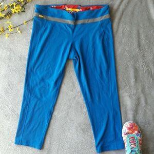 Lole Pants - Lole yoga run capri blue leggings pants