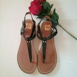NEW DOLCE Vita Black Studded Sandals Sz 9.5