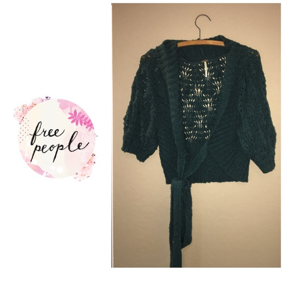 0e4a4ce7fdc171 Free People Sweaters | Wrap Front Sweater Forest Green | Poshmark
