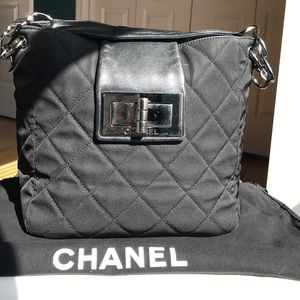 """CHANEL Handbags - """"ROOMY"""" CHANEL BLACK QUILTED MADEMOISELLE"""