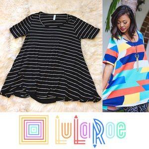 LuLaRoe Tops - Lularoe Perfect T T-Shirt Black White Stripe