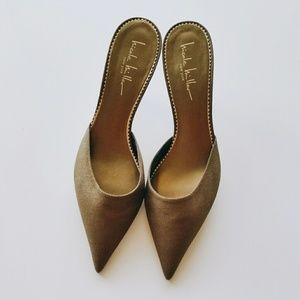 Nicole Miller Shoes - NWOB Nicole Miller Pointy Toe Bronze Mules