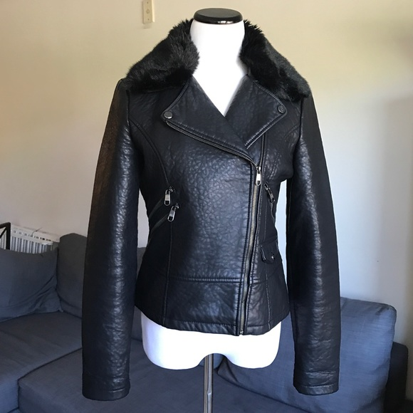 colours and striking pick up wide selection of designs Steve Madden Black Faux Leather Jacket