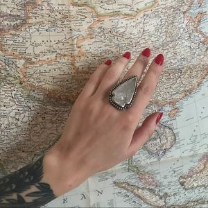 Pamela Love Jewelry - Pamela Love Silver & Quartz Large Arrowhead Ring