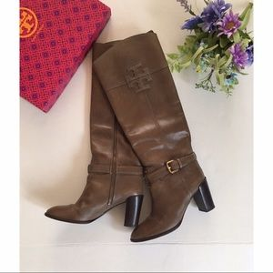 Tory Burch Taupe color high heel boots