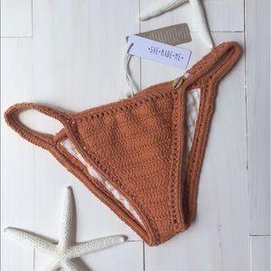 She Made Me Other - NWT She Made Me Crochet Bikini Bottom