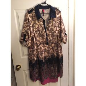 Pure Energy Waisted Shirt Dress Size 2X