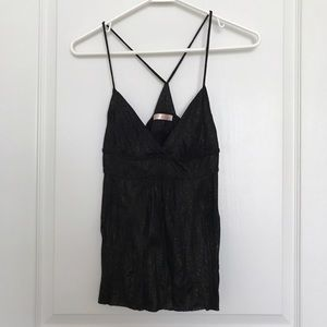 Lux Tops - Lux Black Gold Camisole Tank Top (sz S)