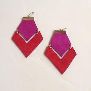 Nordstrom Jewelry - Daly Bird Geometric Leather Earrings