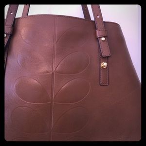 Orla Kiely Handbags - Orla Kiely leather tote. Beautiful!