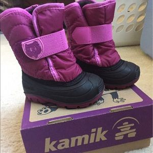 Kamik Other - Kamik toddler girls winter snow boots, size 5