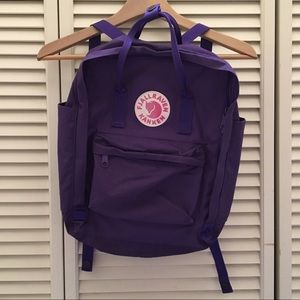 Fjallraven Handbags - Like New Fjallraven Kanken Backpack Purple
