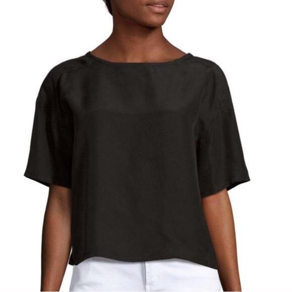 72 off equipment tops nwt equipment black silk tshirt for Equipment black silk shirt