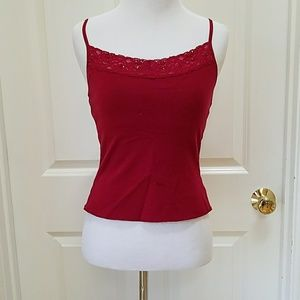 Energie Red tank top with adjustable straps.