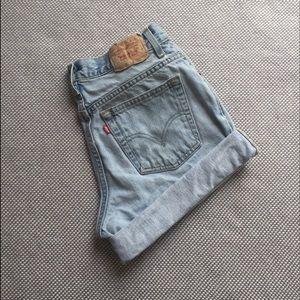Brandy Melville Pants - Vintage Levi's light wash high waist shorts