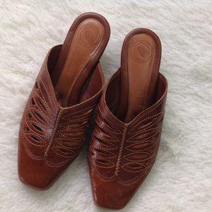 Nurture by Lamaze Shoes - Nurture Leather Slip On Sandals Heels