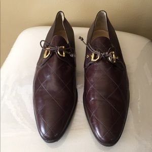 Barneys New York Shoes - Barney's New York Brown Leather Loafers 10 M.