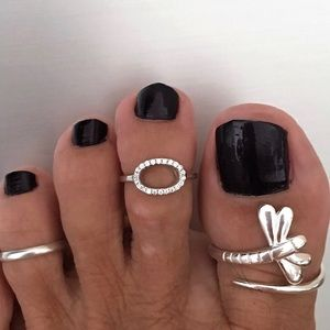 Jewelry - Sterling Silver Circle CZ Toe Ring