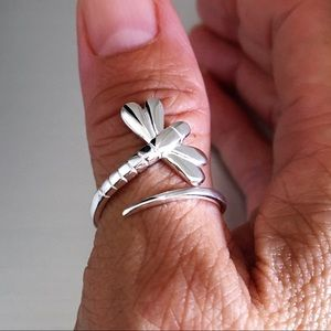 Jewelry - 💕💕TOP SELLER💕💕 Sterling Silver Dragonfly Ring