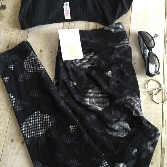 LuLaRoe - ud83eudd84 LulaRoe BLACK GRAY DIGITAL ROSES TC Leggings! from ! shop w/ eileen u2b50ufe0fsuggested user ...
