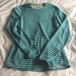 omen's striped long sleeve patagonia shirt size XS