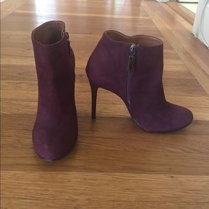 Schultz Shoes - Maroon Schultz healed ankle booties