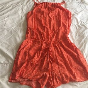 NWT adorable orange old navy romper size S