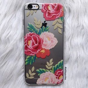 B-Long Boutique Accessories - ❤️SALE❤️ pink red floral iPhone 6/6s • 6 Plus case