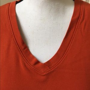 Mossimo Supply Co. Pumpkin V-neck Tee, Size XXL