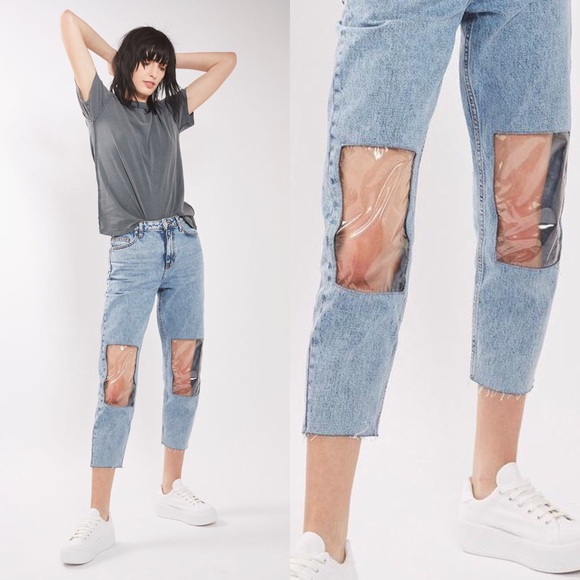 66cd3d7401e MOTO Clear Panel Mom Jeans. M_59037e0c6d64bcf9dd00c8b5