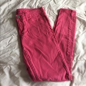 pink AE jeggings size 2