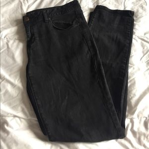 black AE super skinny stretch jeans size 16