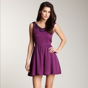 Lucca Couture Dresses & Skirts - NWT Lucca Couture purple beaded flare dress
