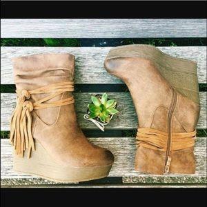 Sbicca Shoes - Sbicca Vintage Wedge Boots