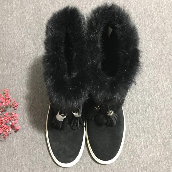 25 burch shoes nwot burch anjelica fur