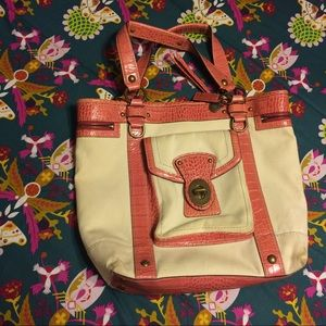 SALE‼️⬇️COACH Legacy pink & cream large Tote