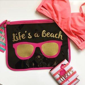 "Handbags - 🎉HP!!!🎉 ""Life's a beach"" Wet Bikini Bag"