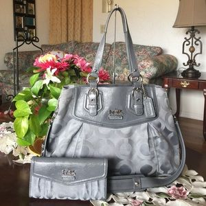 Coach Handbags - Coach 14578 Madison OP Art sateen satchel