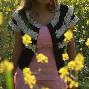 Knitted & Knotted crochet cardigan