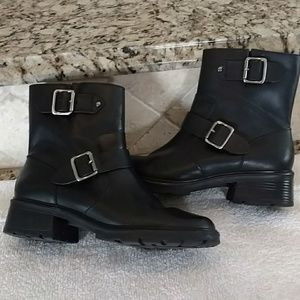 Bass Shoes - Bass Black Leather Boots