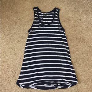 Gap Maternity navy and white striped tank top