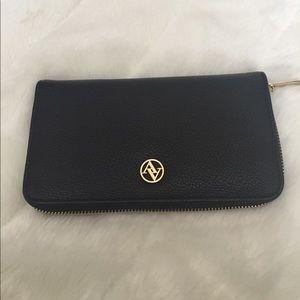 Adrienne Vittadini Handbags - New Adrienne Vitttadini Large Black Zipper Wallet