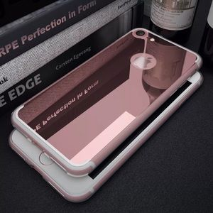 Accessories - iPhone 7 Rose Gold Flexible mirror case