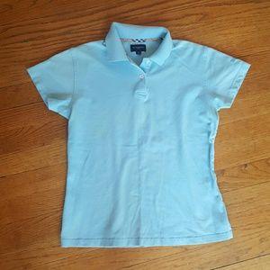 Burberry Tops - WOMENS BURBERRY POLO SHIRT BLUE SIZE SMALL b0364105d